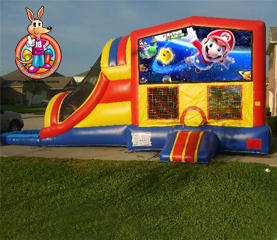 Mario Module 5 in 1 Waterslide Bouncehouse Combo